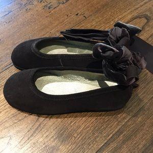 Jacadi girls brown ballet flats. Size 29